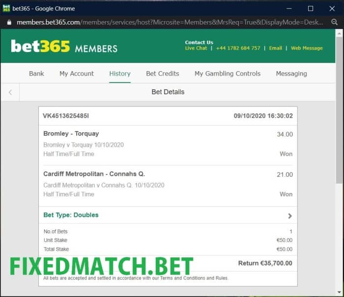 ht ft double fixed bets
