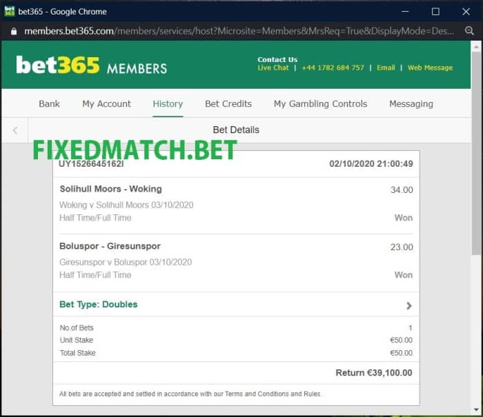 safe fixed matches betting
