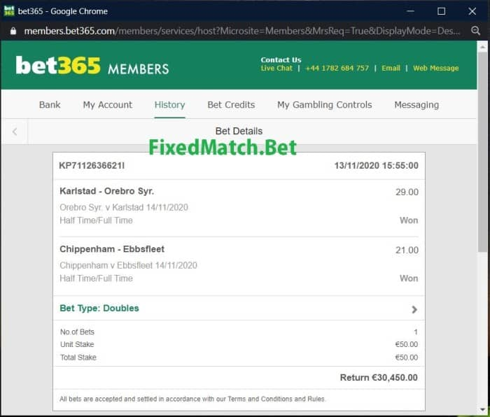 weekend accurate ht ft fixed bets big odds