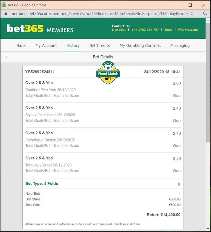 rigged fixed betting football tips