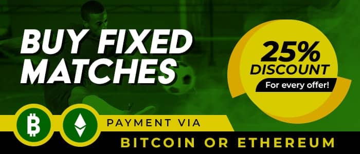 Special Fixed Matches 25% Discount