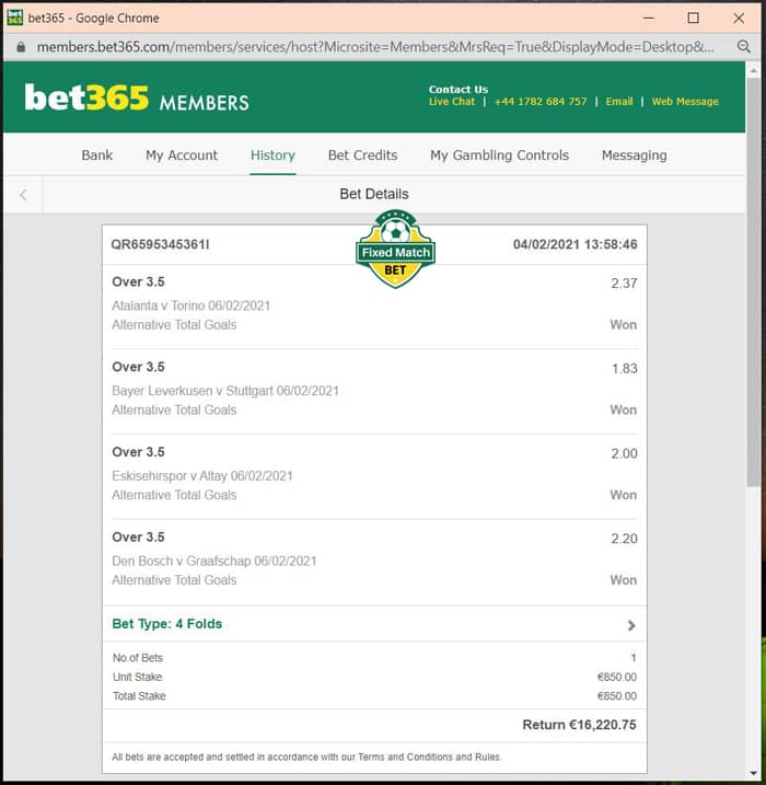 weekend vip fixed bets big odds
