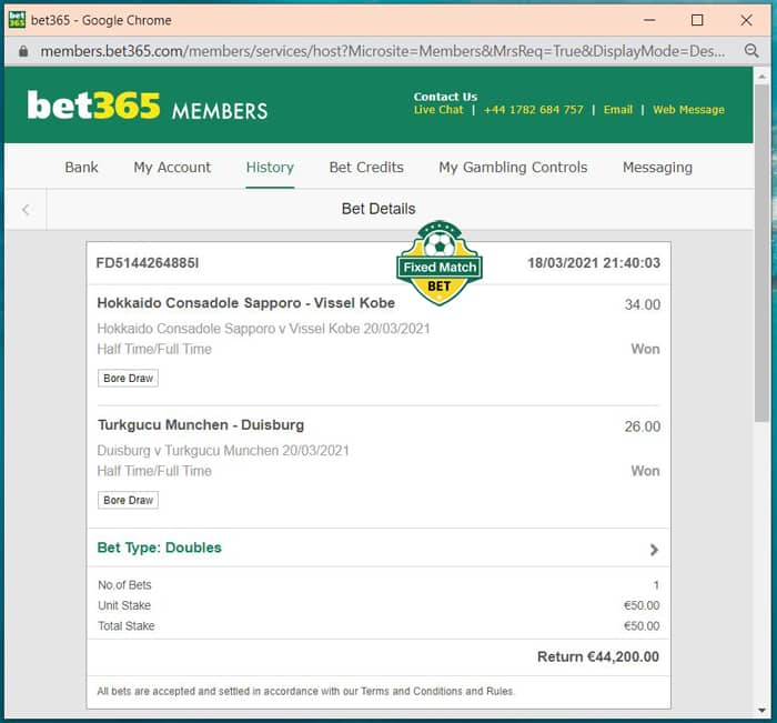 weekend ht ft fixed bets big odds