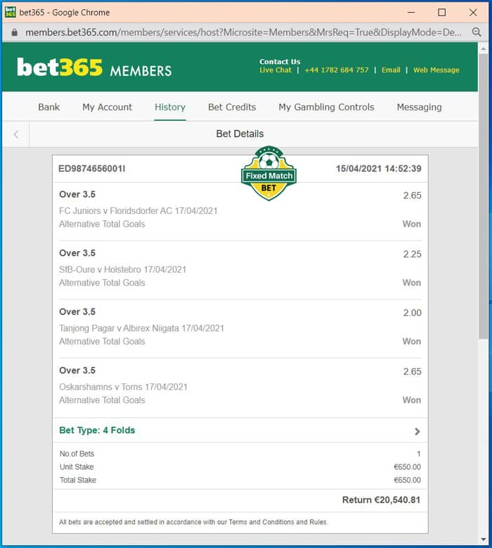 correct score result fixed matches