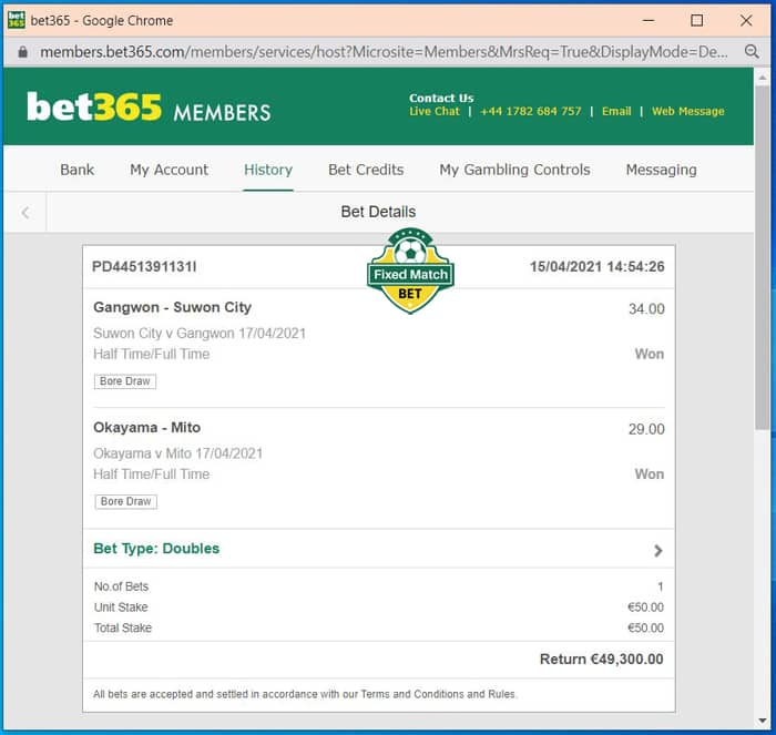double htft fixed bets weekend