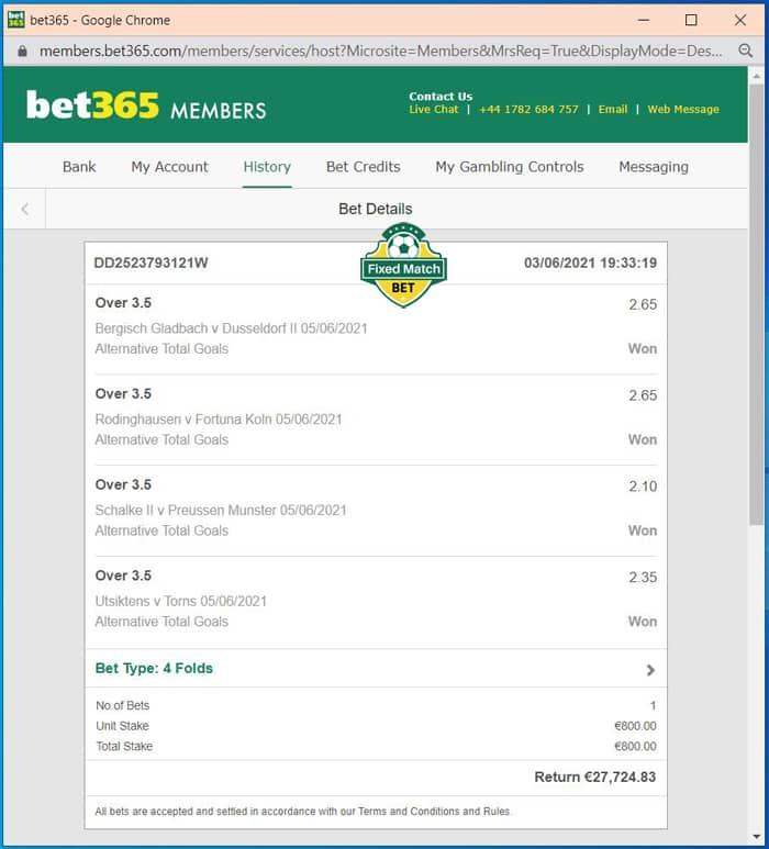 Over Goals VIP Ticket Fixed Matches