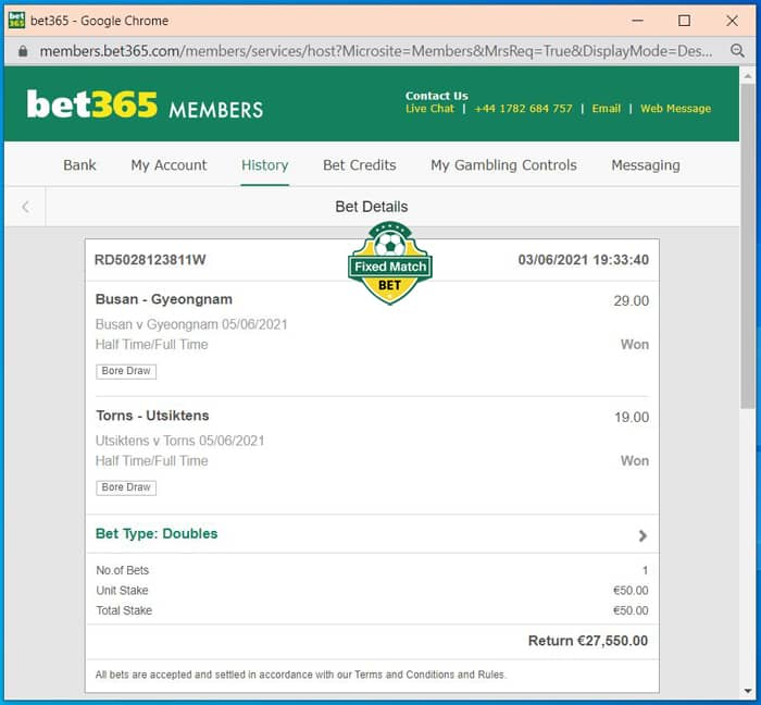 double ht ft fixed bet Saturday