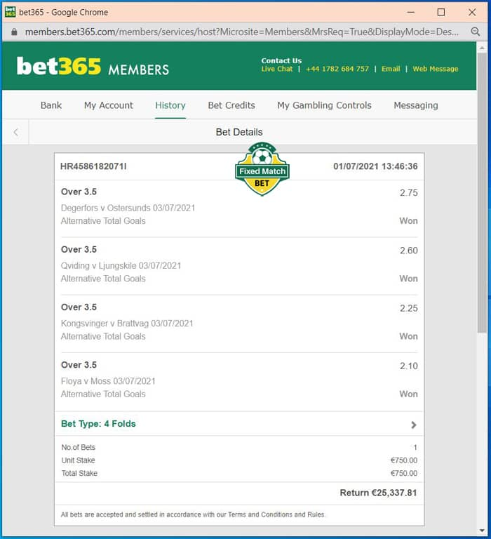 Combo Multi Bets Fixed Matches
