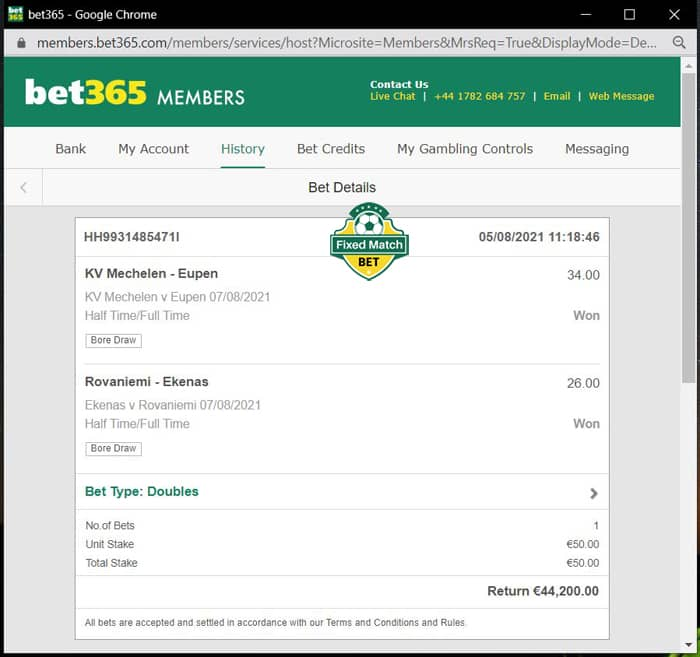 double ht ft fixed bet 100% sure