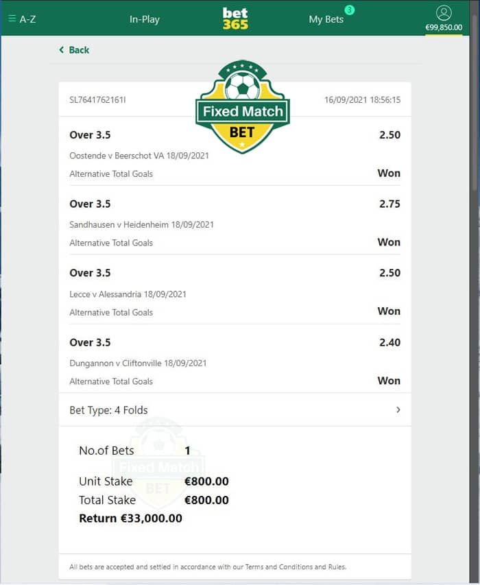 Ticket odds 100% sure Betting tips