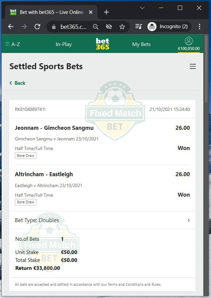 Double Fixed Bets Weekend